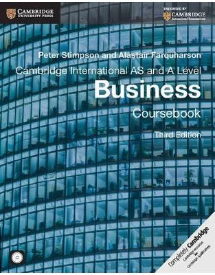 Libraria online eBookshop - Cambridge International AS and A Level Business Coursebook with CD-ROM (Cambridge International Examinations) - Peter Stimpson - Cambridge University Press