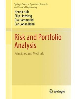 Libraria online eBookshop - Risk and Portfolio Analysis - Henrik Hult , Filip Lindskog - Springer
