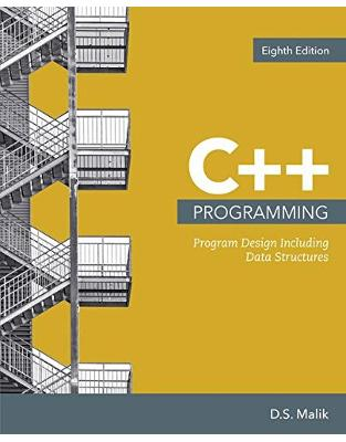 Libraria online eBookshop - C++ Programming: Program Design Including Data Structures - D. S. Malik - Cengage Learning EMEA