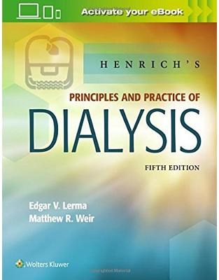 Libraria online eBookshop - Henrich's Principles and Practice of Dialysis - Edgar Lerma,  Matthew Weir - LWW