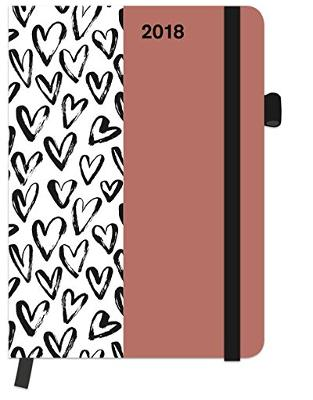 Libraria online eBookshop - Agenda SoftTouch Pattern Hearts 2018 -  - TeNeues