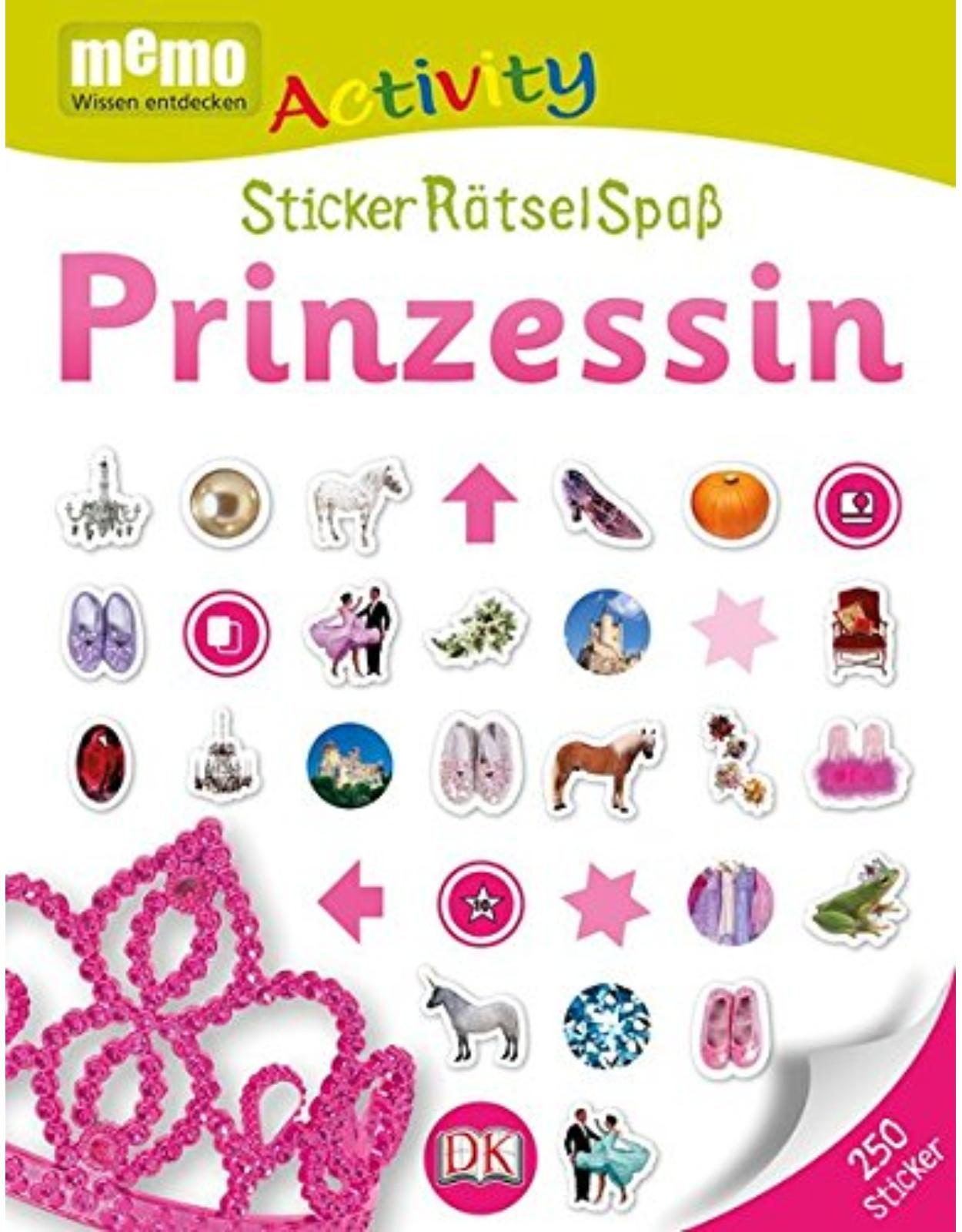 Memo Activity. Prinzessin: StickerRätselSpaß