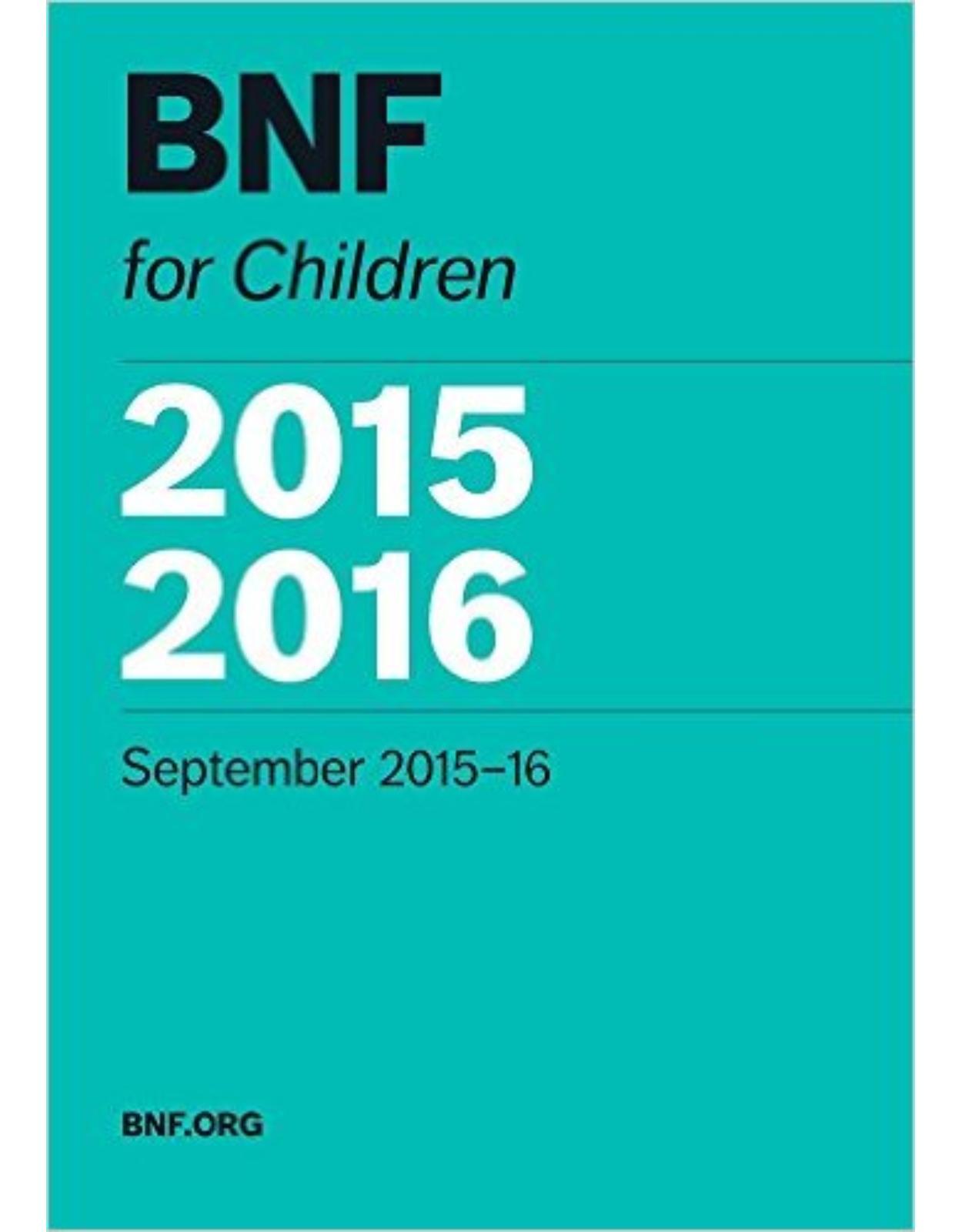British National Formulary for Children 2015-2016 1st Edition