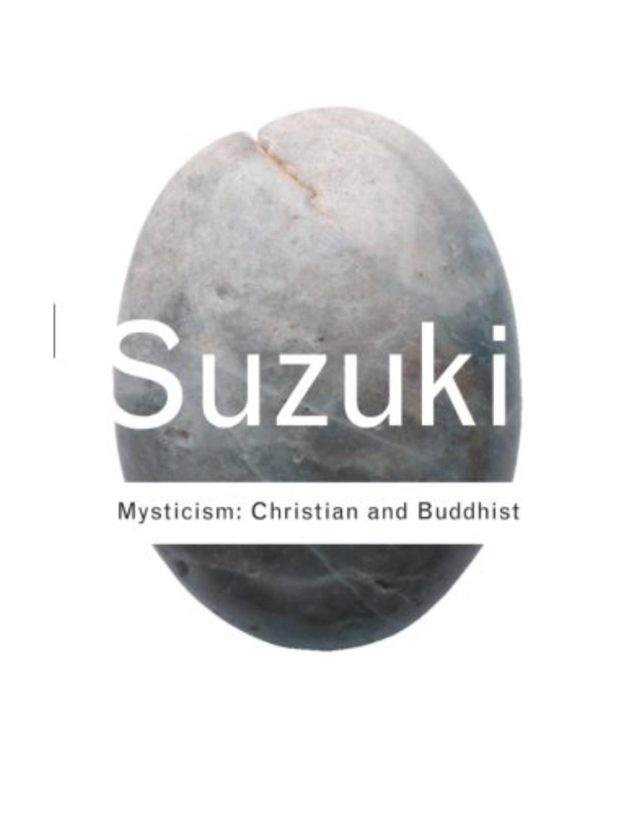 Mysticism: Christian and Buddhist