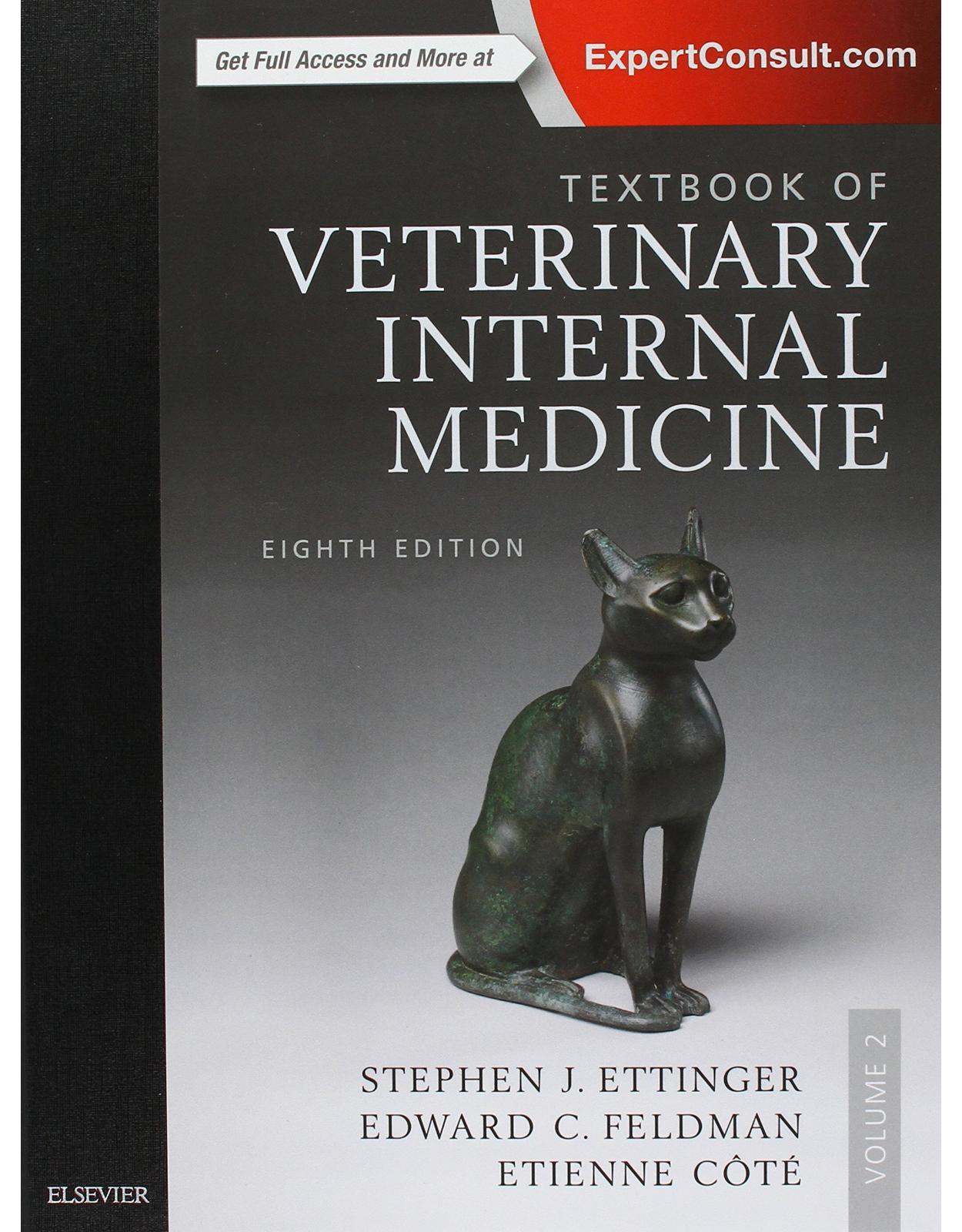 Textbook of Veterinary Internal Medicine Expert Consult, 8th Edition