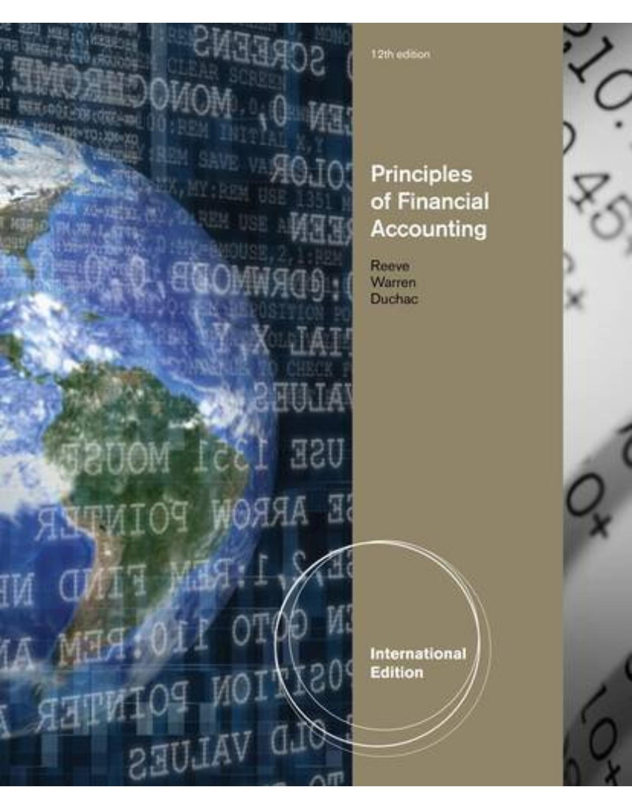 Principles of Financial Accounting, International Edition 12e