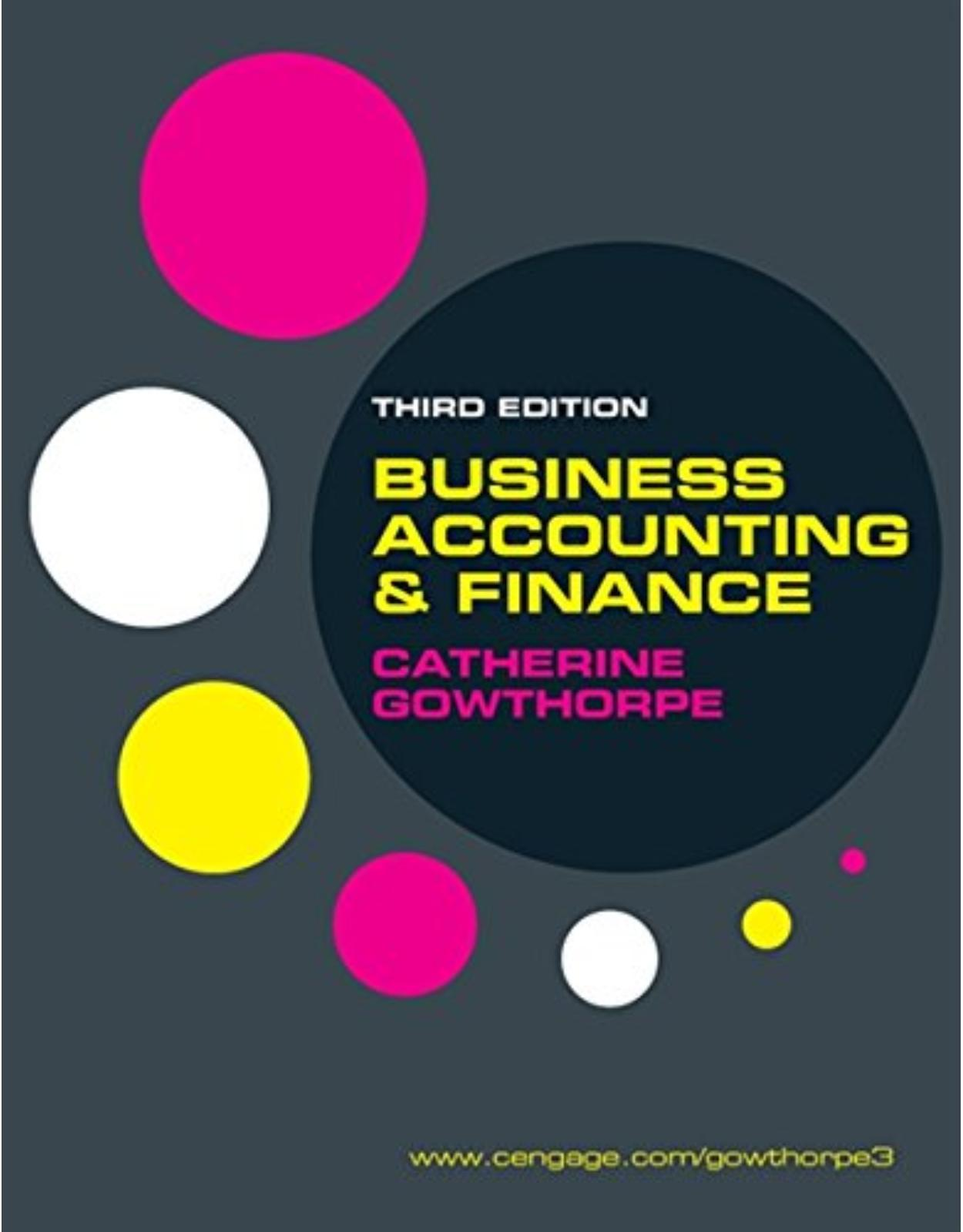 Business Accounting and Finance 3e
