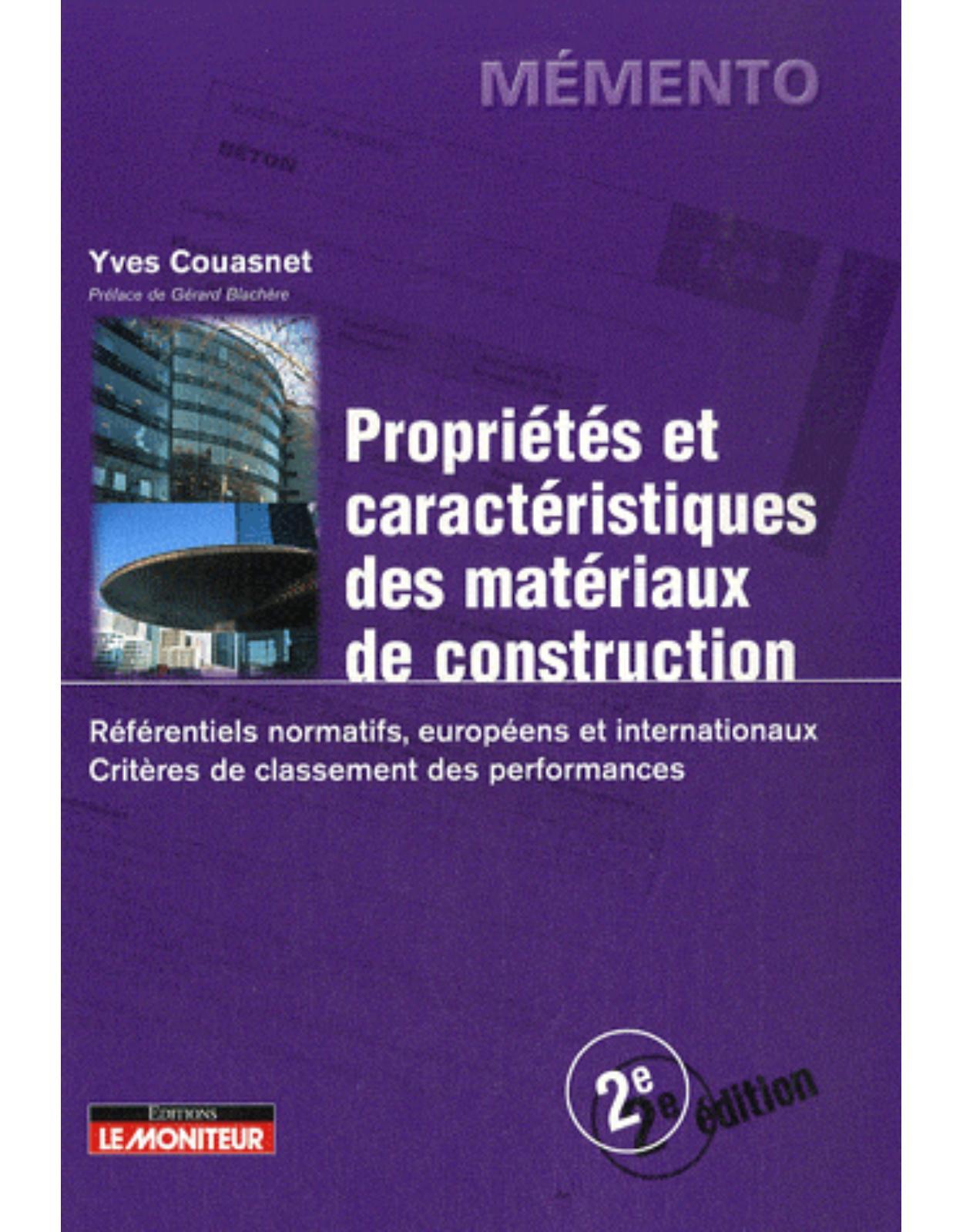 Memento - Propriétés et caractéristiques des matériaux de construction