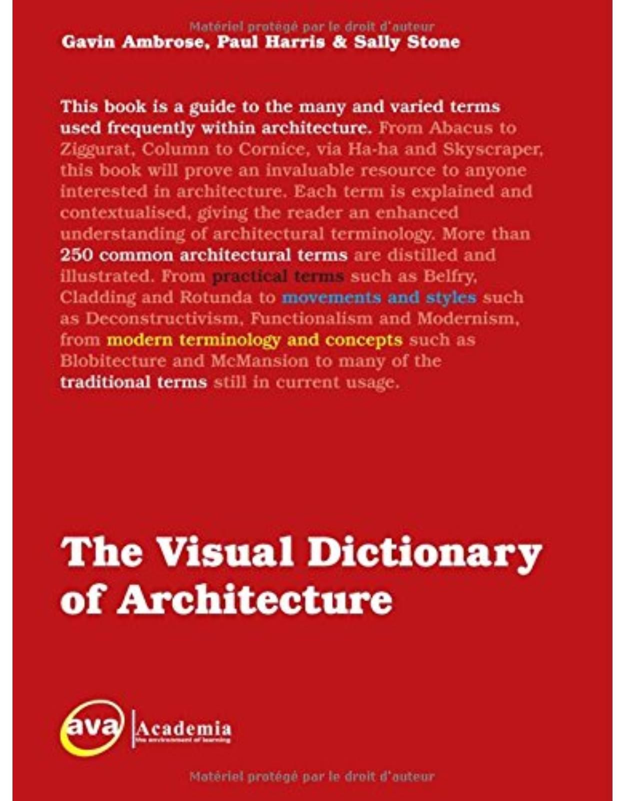 Visual Dictionary of Architecture illustrated edition