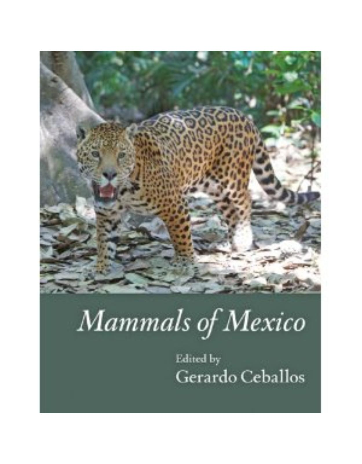 Mammals of Mexico.