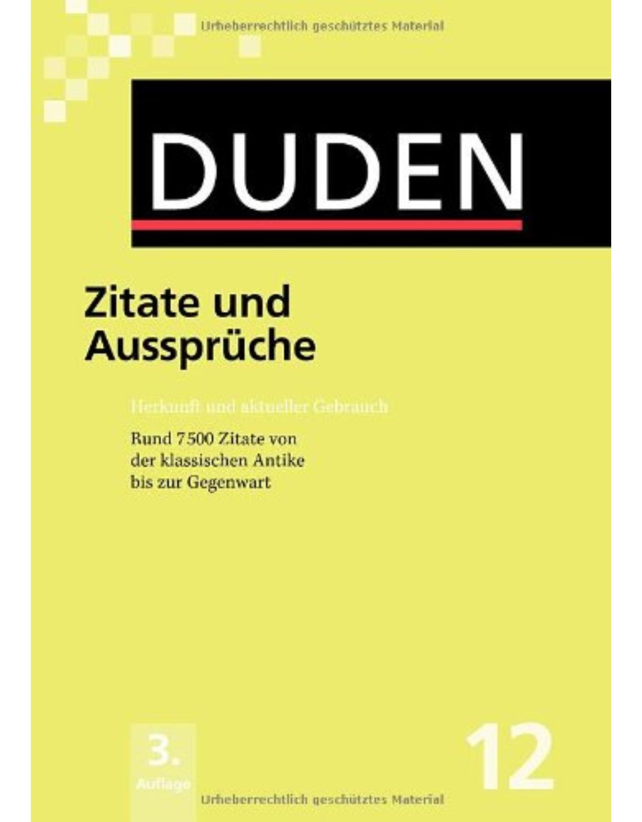 Duden BD. 12 - Zitate/ Ausspr