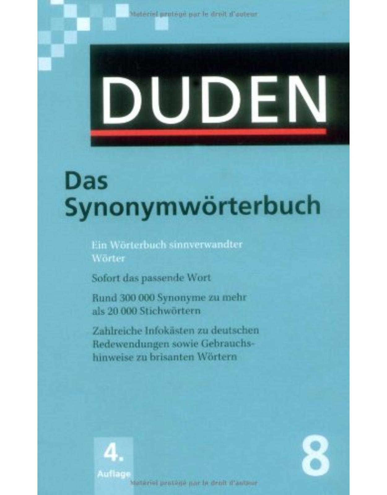 Der Duden in 12 Bänden - Band 8 : Das Synonymwörterbuch + CD