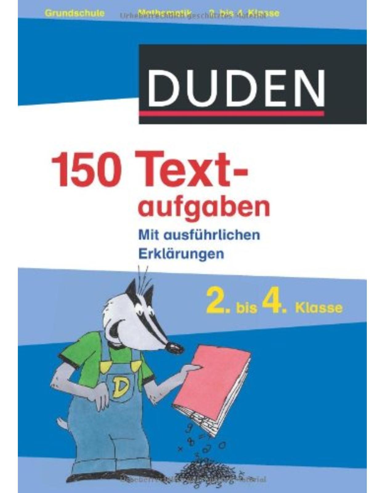 150 Textaufgaben 2. bis 4. Klasse
