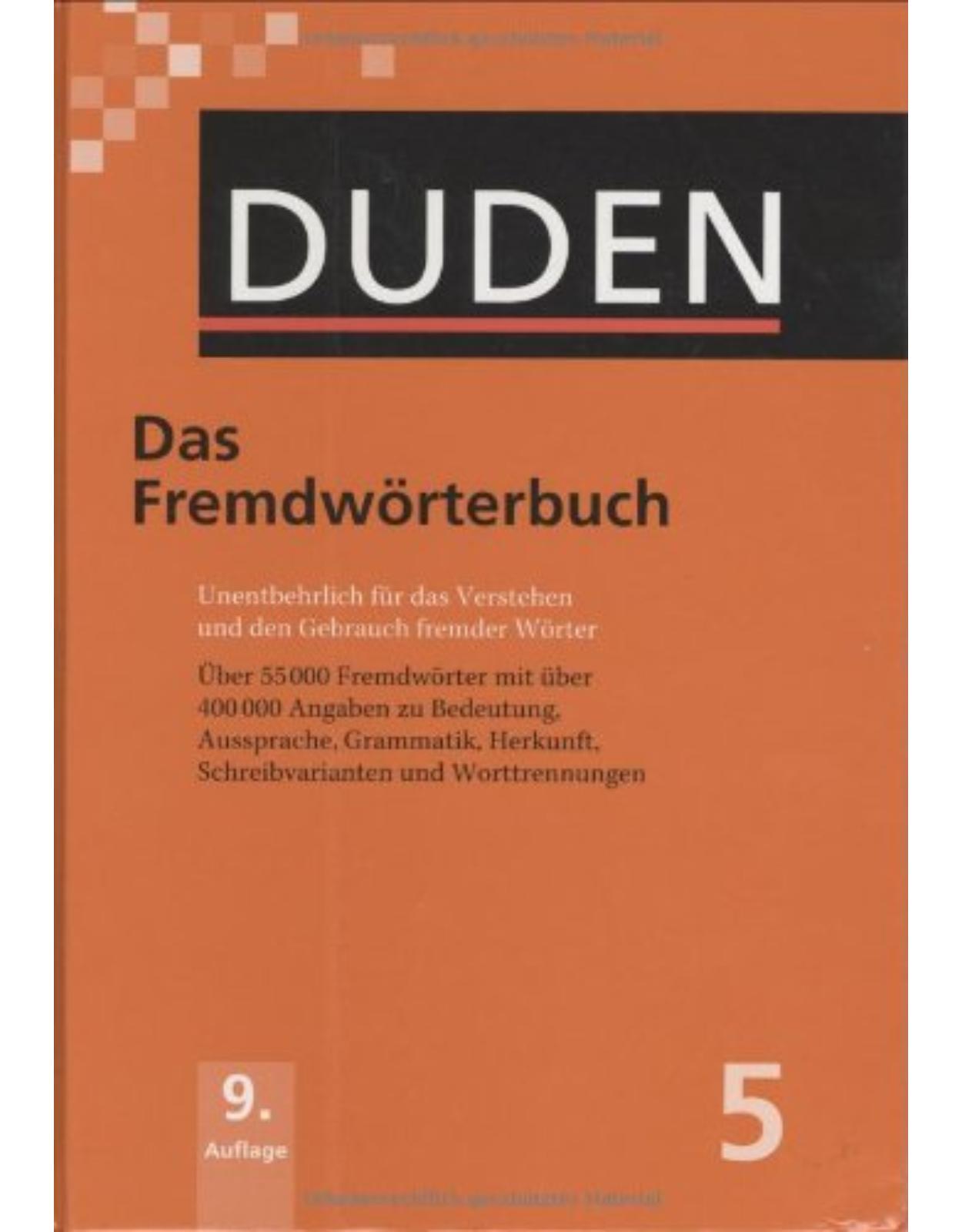 Der Duden in 12 Bänden - Band 5 : Das Fremdwörterbuch