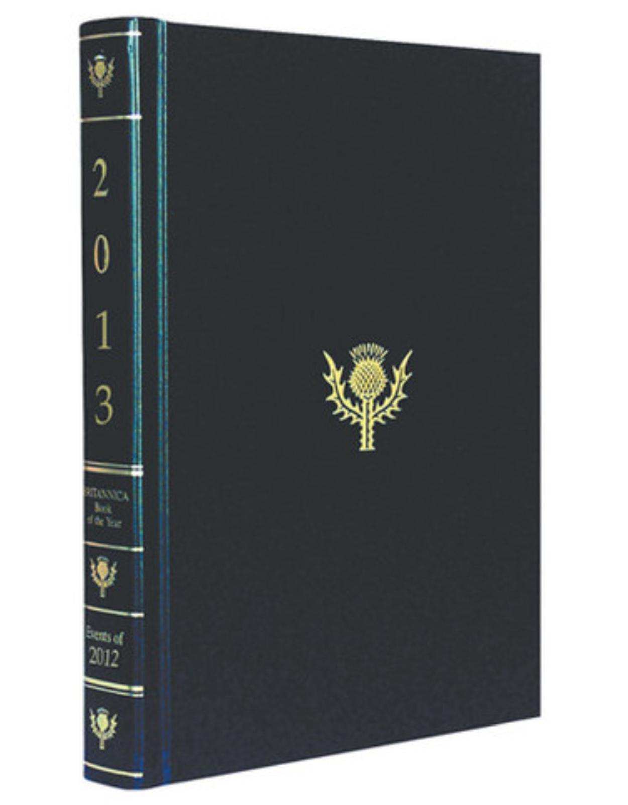 Britannica Book of Year Black Paddled 2013